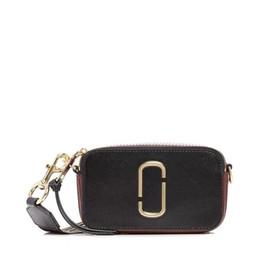 Camera Shoulder Strap Australia - 2019 Sport Genuine Leather Flap Mini Camera Bag Crossbody Shoulder Bag For Lady Women Box Wide Shoulder Straps Fashion MJ Paillette