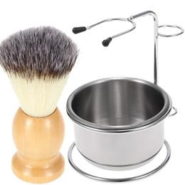$enCountryForm.capitalKeyWord Australia - Men's Shaving Mug Bowl Brush Stand Holder Stainless Steel Beard Moustache Face Cleaning Soap bowl Cup For Barber Salon Home