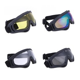 atv goggles blue NZ - UV400 Windproof Snowmobile Bike 50g ATV Dirt Bike Off Road Racing 400 Goggles Motorcycle Glasses PC For Outdoor Riding