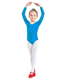 Toddler Leotards Australia - Adult Girls Spandex Lycra Scoop Neck Long Sleeve Leotard Child Gymnastics Leotards Ballet Dance Toddler Bodysuit