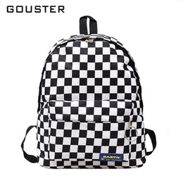 $enCountryForm.capitalKeyWord NZ - 2019 Hot Sale Women Men Unisex Lattice Backpack New Trend Checkerboard Teenager School Bag Couples Back Pack Travel Bag