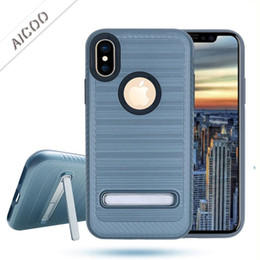 $enCountryForm.capitalKeyWord Australia - Metal Phone Case Brushed Cover With Kickstand For iPhone X XS MAX XR 8 7 Plus Samsung Note 9 LG Moto E5 Plus Play OPP