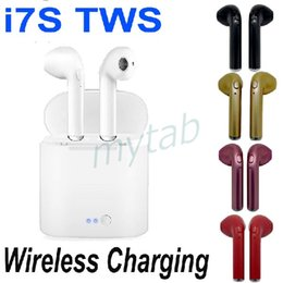 Iphone Stereo Mic Australia - Wireless Charging Bluetooth 5.0 Earphone i7S TWS Twins in-Ear Stereo Earbuds For Android iPhone With Mic Multi Colors i7S-TWS