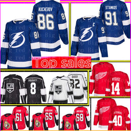 China 91 Steven Stamkos Tampa Bay Lightning 86 Nikita Kucherov Jersey Los Angeles Kings 8 Drew Doughty 32 Quick 14 Gustav Nyquist 61 Mark Stone cheap nyquist jersey suppliers