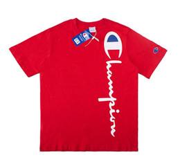 $enCountryForm.capitalKeyWord NZ - Teen Summer Boy Short Sleeve Cotton Fabric Round Neck T-Shirt Letter Print Black Blue White Red Size M-2XL