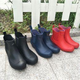 $enCountryForm.capitalKeyWord NZ - Unisex Waterproof Short Boots Men Women Ankle Rainboots Brand Designer Antiskid Rubber Water Shoes Outdoor Riding Boots Rainshoes Hot C8601