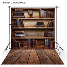 Background Prints Australia - fabric background Graduation season Thin Vinyl photography Vintage Shelf Backdrop - case, book store - Printed Fabric Background F-2691