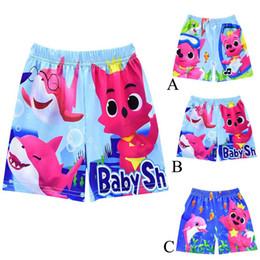 92d234a9bf 2019 Boys Designer Swim Trunks Baby Shark Board Shorts Cartoon Swimwear 3  design short beach pants Shark Baby Swimming Pants C32