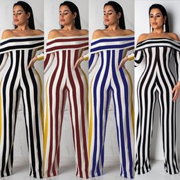 $enCountryForm.capitalKeyWord Australia - Womens Sexy Striped One Shoulder Jumpsuit Outfits Bodycon Long Pants Lace Ruffle Clubwear One Piece Rompers