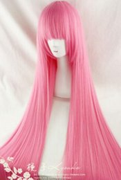 length games NZ - HOT The animation game Patrol tone by COS 100cm long straight hair pink wig