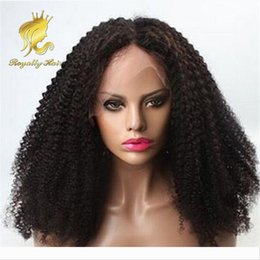 baby curly unprocessed lace wig NZ - Density 250% Brazilian Kinky Curly Front Lace Human Hair Wigs Unprocessed Hair Deep Curl Glueless Full Lace Wig With Baby Hair