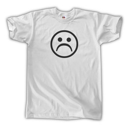 t shirts emoji faces 2019 - SAD FACE T-SHIRT - UNISEX S M L XL - TUMBLR AESTHETIC 90s FROWN EMOJI WINDOWS 95 Funny free shipping Unisex Casual Tshir