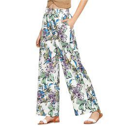 $enCountryForm.capitalKeyWord Australia - Yoga Pants Floral Print Causal Office Ladies High Waist Print Calf-Length Pants Sandy Beach Yoga Leggings Fitness Feminina
