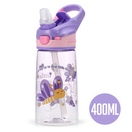 bpa free juice bottles wholesale Australia - Water Bottle Bpa Free Plastic Kids Drink Outdoor Sports Bottle Juice Lemon Kettle 400Ml Water Leakproof Drinking