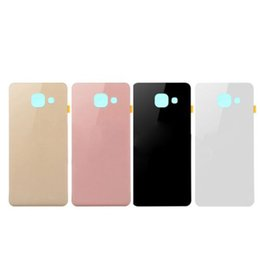 Battery case for samsung a7 online shopping - 10pcs Original Housing Back Glass Case With Sticker Rear Battery For Samsung Galaxy A3 A310 A5 A510 A7 A710 versions