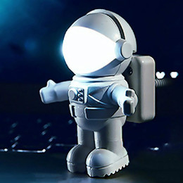 power bank shape Australia - USB LED Book Light Mini Spaceman Astronaut Shape Night Lights Flexible Tube Bedsides Reading Lamp For Computer Laptop Power Bank