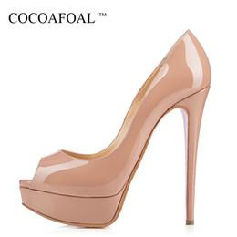 $enCountryForm.capitalKeyWord Australia - Cocoafoal Woman Sandalia Feminina Pole Dance Plus Size 33 - 43 Party Wedding Peep Toe Pumps Sexy 12 Cm Fetish High Heels Shoes