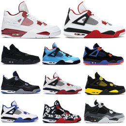best black bodies 2019 - New hot Best 4 hot lava White Cement Black yellow bred Black cement mens trainer Basketball Shoes Athletics 4s designer