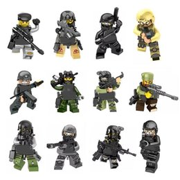 swat blocks NZ - LXH Armas Ghost Commando Action Figure SWAT The Wraith Assault Military Mini Toy Figure Building Blocks Army Weapon Armed Force Toy