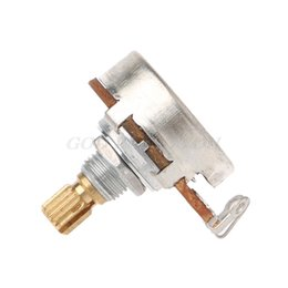 amplifiers for electric guitar UK - A250K B250K Brass Short Split Shaft Audio Potentiometer For Electric Guitar Bass