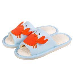 $enCountryForm.capitalKeyWord UK - Summer Kids Cute House Slippers Cartoon Shark Dinosaur Crab For Children Home Shoes Soft Bottom Boys Girls Slippers
