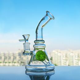 Cartoon Bongs Bowls NZ - Cartoon Thick Glass Beaker Base Bong Smoking Water Pipes Heady Dab Rigs Glass Bubblers Water Bongs With 14mm Bowl Hookahs 7.7''