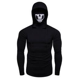 $enCountryForm.capitalKeyWord UK - Men Boy Hoodies Sweatshirt Men's Moletom Mask Skull Pure Color Pullover Tops Loose Hooded Sweatshirt Tops