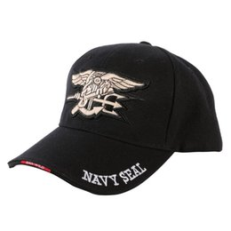 "fitted ball caps wholesale Australia - Men Women Embroidery fitted ""Navy Seal ""baseball cap Casual snapback hats S1"