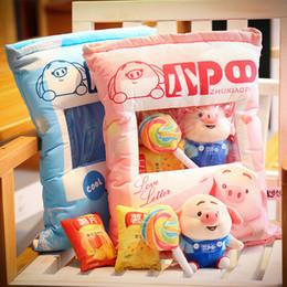 Fart cushions online shopping - Cute pig little fart cushion cushion pig little fart series plush big gift bag piglet doll pillow donut
