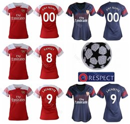 Women Arsenal Jersey 2018 2019 Soccer Lady TORREIRA LICHTSTEINER XHAKA  MKHITARYAN Women Football Shirt Kits Uniform Custom Name Number 39801c118