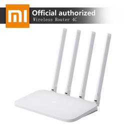 Router Wi-Fi Xiaomi Mi originale 4C 64 RAM 300 Mbps 2.4G 802.11 b / g / n 4 Antenne Band Router wireless Controllo APP WiFi