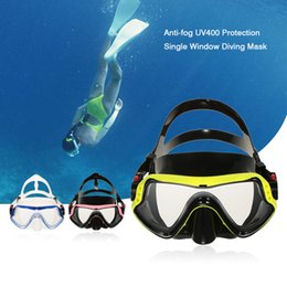 Wholesale Men Women Anti fog UV400 Protection Diving Mask Snorkeling Mask Scuba Swimming Goggle Tempered Glass Lens Flexible Silicone