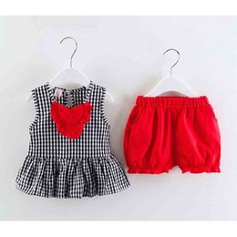 $enCountryForm.capitalKeyWord NZ - good quality 2019 summer baby girls clothing sets plaid sleeveless T-shirt+solid color shorts 2pcs suits for bebe casual clothes