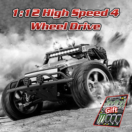 high speed rc drift car NZ - wholesale High Speed 1:12 RC Car Machine on the Radio 4 Wheel Drive Remote Control Electric Drift 2.4Ghz Toys Car for Boys