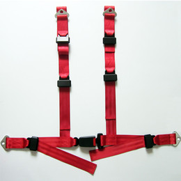 $enCountryForm.capitalKeyWord Australia - Car Safety Seat Belt Nylon 4 Point Red Seat Belts Racing Adjustable Safety Harness Buckle Pratical auto accessorie