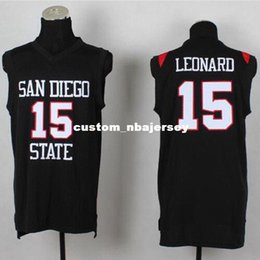 Cheap custom Kawhi Leonard  15 San Diego State Basketball Jerseys Stitched  Black customize any number name MEN WOMEN YOUTH XS-5XL 8b4a01a07
