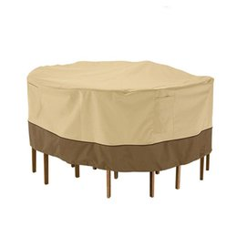 Pop Chair Australia - Outdoor Round Table Chair Set Rain Cover Durable Water Resistant Outdoor Furniture Cover Ith Pop-up Supporter Waterproof