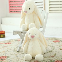 Discount sleeping bear stuffed animal - Stuffed Comfort Rabbit Sleeping Plush Solid Party Doll Toy Animal Gifts Birthday Kids Home Baby Christmas Soft Toy