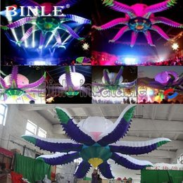 $enCountryForm.capitalKeyWord Australia - Hot sale 3m 5m large inflatable flower with led light uk octopus flower model for wedding decoration