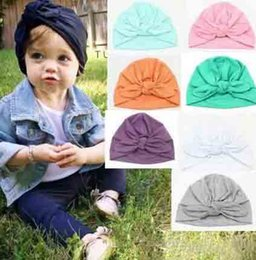 $enCountryForm.capitalKeyWord Australia - 2019 Europe US Baby Hats Bunny Ear Caps baby girls hair bows hat newborn crochet hats kid bonnet baby spring cotton photography caps