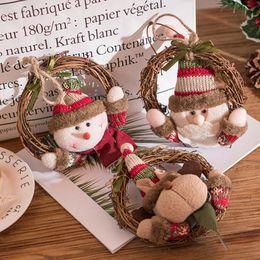 Merry Christmas Ornament Australia - Hanging Merry Christmas Tree Decoration Santa Claus Snowman Deer Xmas Ornaments Pendants New Year Decors Party Deocr
