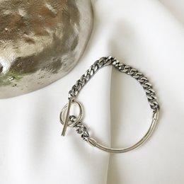 Sterling Silver Coral Bracelet Australia - A Half Chain Take Buckle Bracelets 925 Sterling Silver Trendy Fashion Design Wild Women Silver Bracelets 2018 Charms Jewelry J 190429
