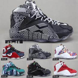 bc4f7b2f2c8 Lebron 12 Shoe Size Australia - New Arrival Lebron 12 XII P.S Elite Rainbow Basketball  Shoes