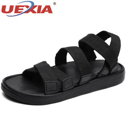 Clogs Leather Canada - UEXIA Comfortable Men Pool Sandals Summer Outdoor Beach Shoes men Slip On Garden Clogs Casual Water Shower Slippers Unisex
