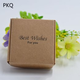Mini soaps online shopping - 100pcs Kraft paper gift packaging box mini kraft cardboard handmade soap candy box personalized craft paper gift box for jewelry