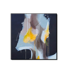 handpainted picture frames 2019 - Nordic style simple abstract oil painting wall art pictures home decor Hand-painted landscape on canvas for living room