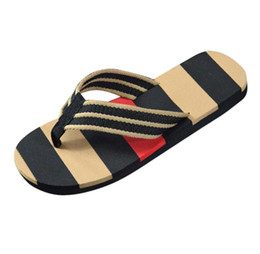 Male sandals online shopping - Hot Selling Fashion Men Summer Stripe Flip Flops Shoes Sandals Male Slipper Flip flops EVA Mixed Colors Flat with Shoes