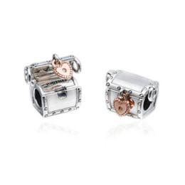 62d4e800a 925 sterling silver DIY beads jewelry accessories commemorative love lock  treasure box suitable for Pandora charm bracelet necklace