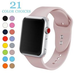 Wholesale Moda 21 cores esporte silicone watch band respirável pulseira de substituição para iwatch apple series 1 2 3 4 strap 42 / 44mm 38 / 40mm