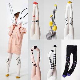 Wholesale pantyhose white cotton resale online - Spring Girls Tights Cartoon Cat Baby Girl Pantyhose Cotton Knitted Cotton Cute kids Stocking Baby Pantyhose Tight